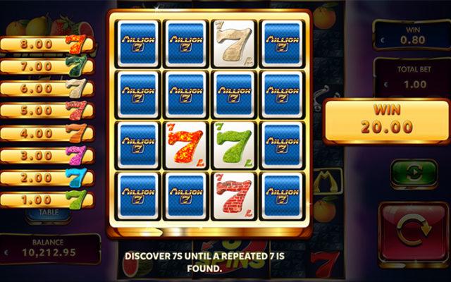 Million 7 Mini Game Frenzy 7s