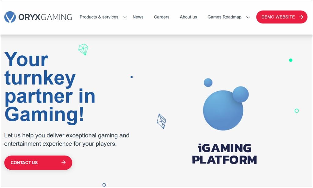 Oryx Gaming Screenshot